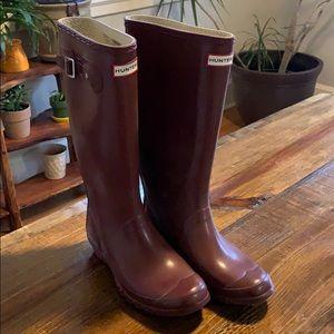 Hunter Rain Boots EUC 7